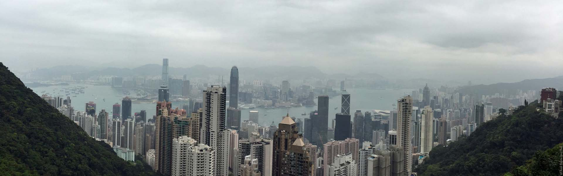 View of Hong Kong from Victoria Peak - Hong Kong Island, Hong Kong, China