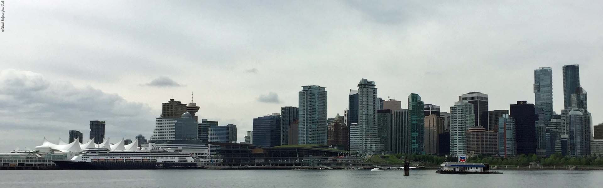 View of Vancouver from Stanley Park - Vancouver, British Columbia, Canada